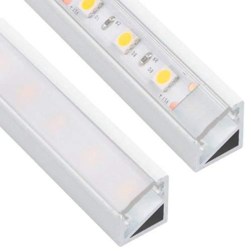 Perfil Blanco Aluminio Esquinero 2 Metros Tira LED