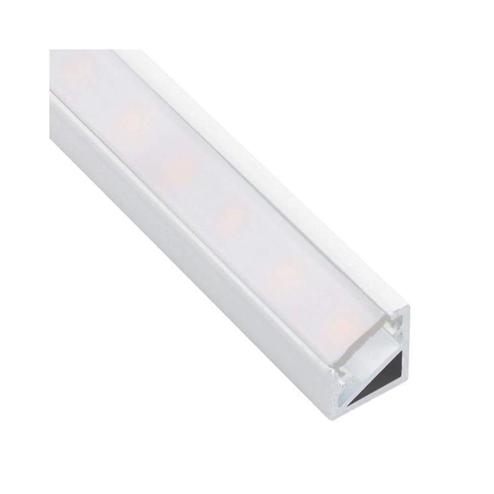 Perfil blanco aluminio esquinero 2 metros tira led - Perfil aluminio blanco ...