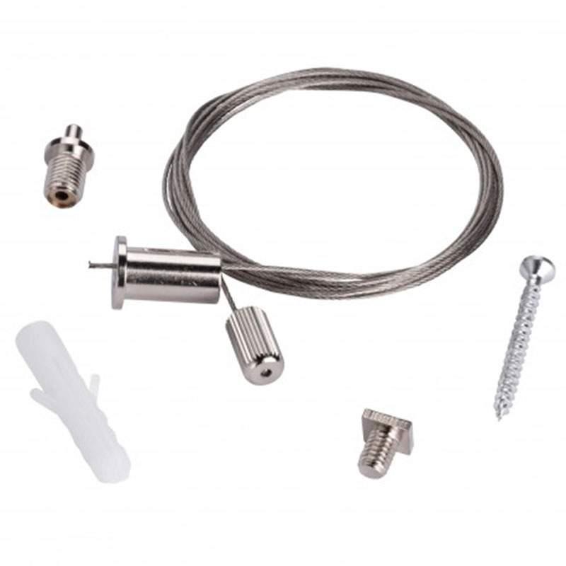 kit conjunto cables supensi n perfil tira de led. Black Bedroom Furniture Sets. Home Design Ideas