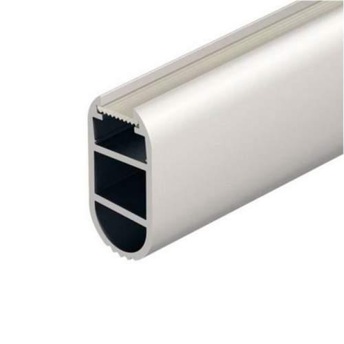 Perfil Aluminio Barra Armarios Ovalada 1 Metro Tira LED