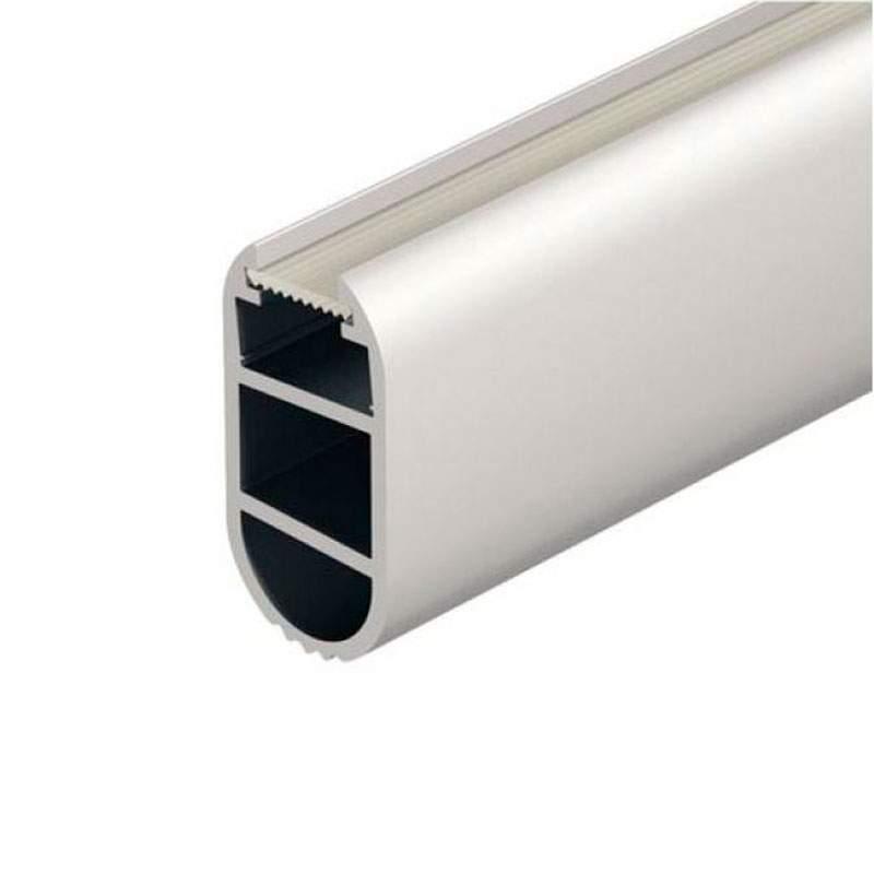 Perfil aluminio barra armarios ovalada 1 metro tira led - Perfiles de aluminio para armarios ...