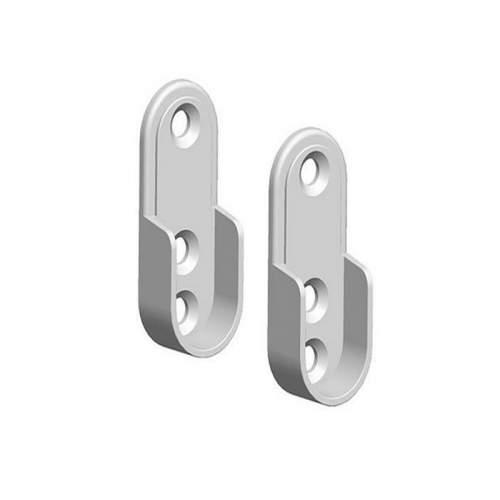 Kit soportes para perfil Aluminio Barra Armarios Ovalada