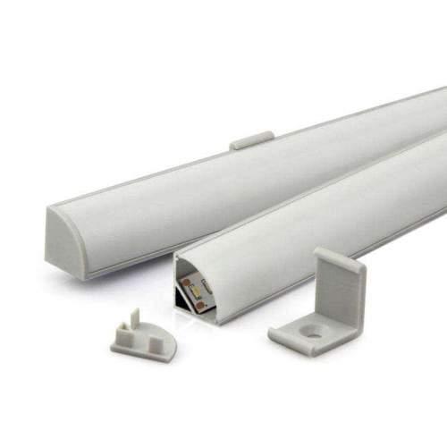 Perfil Aluminio Esquinas redondeado 1 Metro Tira LED
