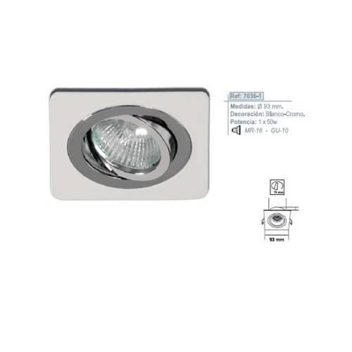 Empotrable Aluminio Blanco-Cromo