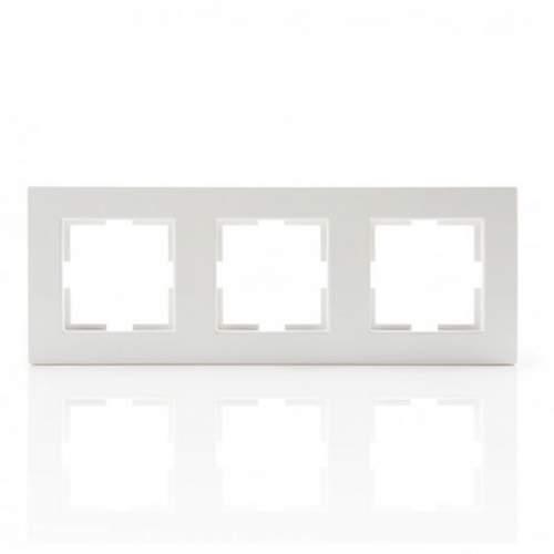 Marco de 3 elementos Blanco Panasonic Karre