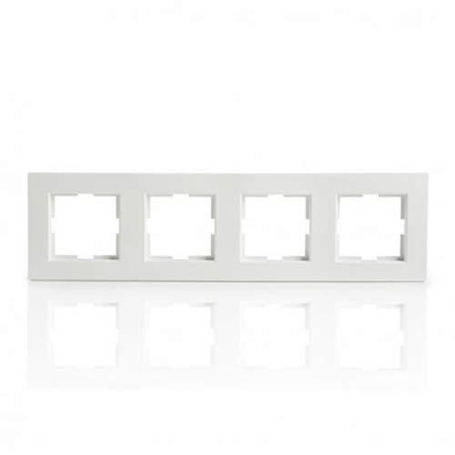Marco de 4 elementos Blanco Panasonic Karre