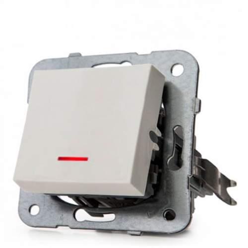 Interruptor Luminoso Panasonic Karre 10A Blanco Empotrable