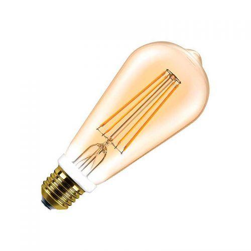 Bombilla E27 Pera Vintage 6W regulable filamento Led