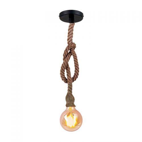 Lámpara de techo colgante cuerda Vintage