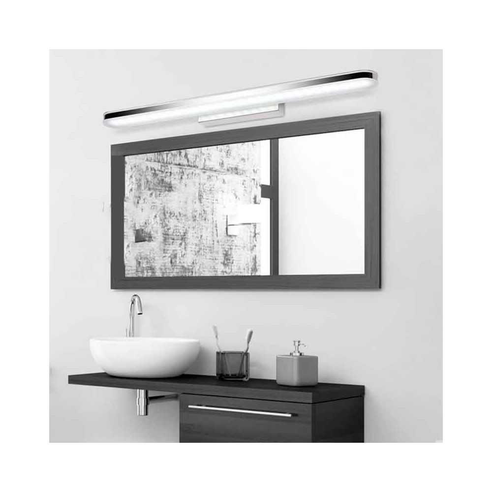 Aplique led cromado para espejo de ba o de 8 y 12w - Aplique espejo bano ...