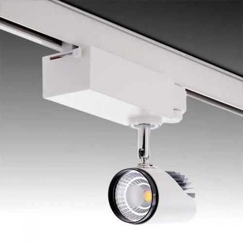 Foco LED 10 W para carril Monofásico