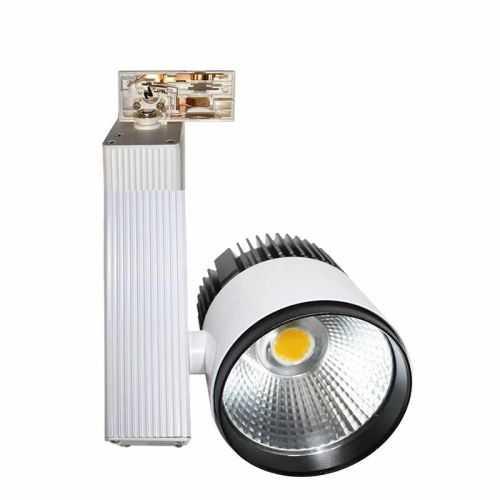 Foco LED 30W para carril trifásico