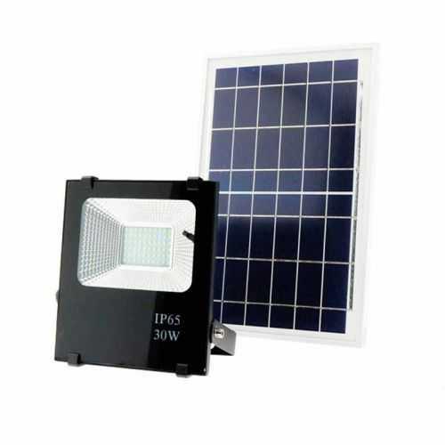 Foco proyector led solar de 30w con placa solar incluida - Focos led solares ...