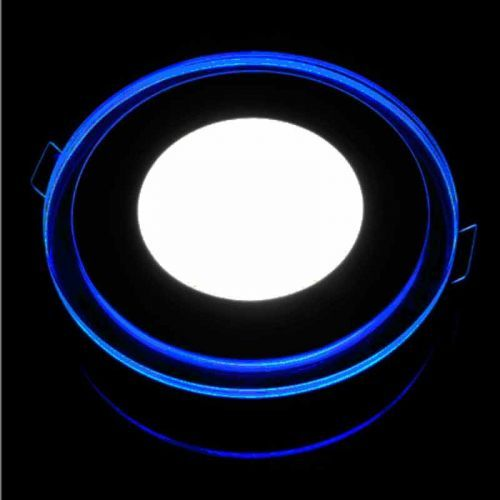 Downlight LED 18W+2W Contorno iluminado Azul- Verde