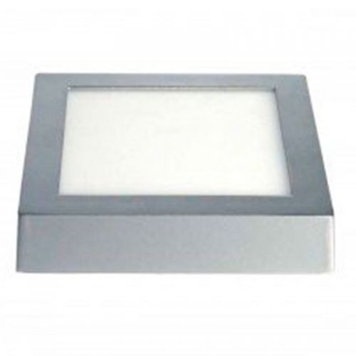 Plafón LED superficie Cuadrado 24W Plata Gris
