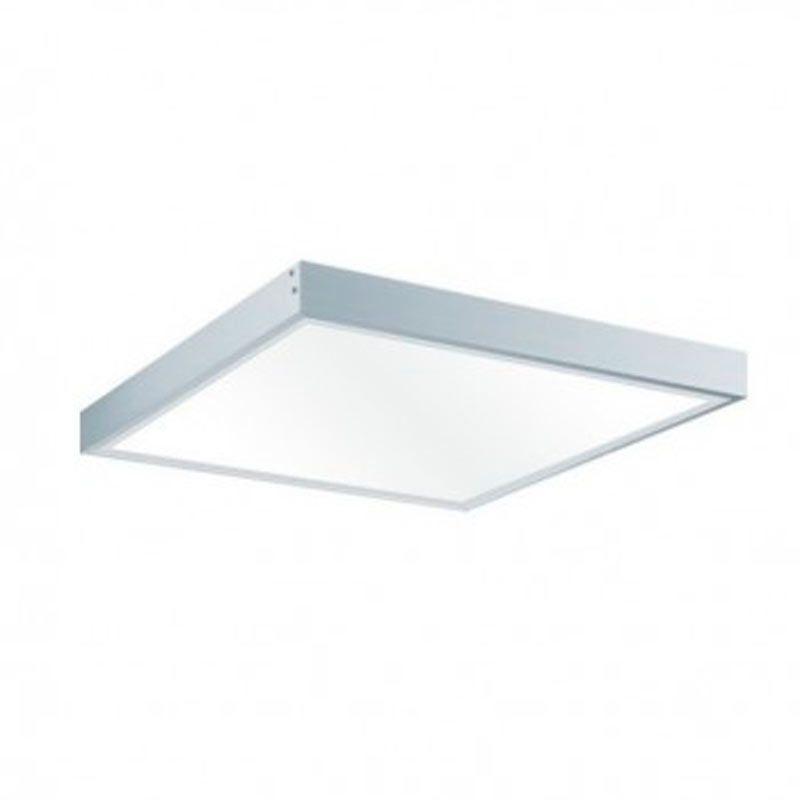 Plafón LED superficie Cuadrado 36W Aluminio