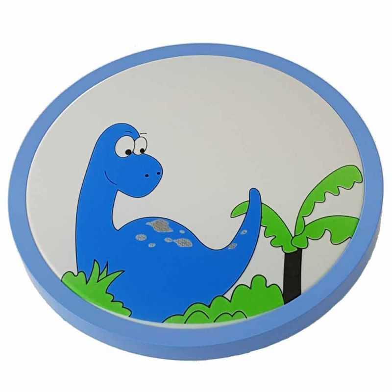 Plafón LED 24W Infantil Azul Dinosaurio