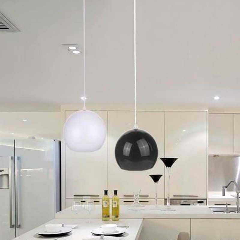 Lámpara colgante LED Esfera-Bola 12W Blanca