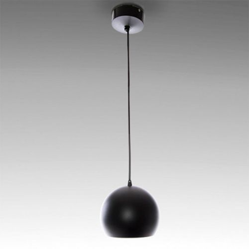 Lámpara colgante LED Esfera-Bola 12W Negra