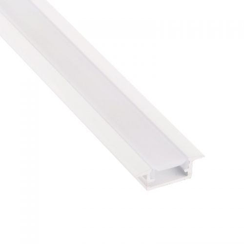 Perfil Blanco Aluminio Empotrar 2 metros Tira LED