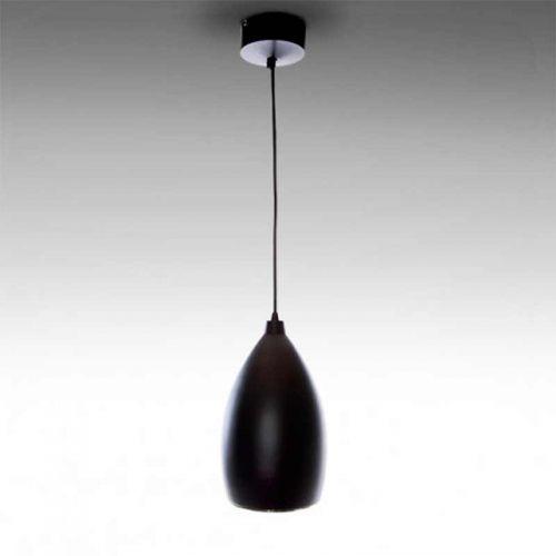 Lámpara colgante LED Pera 12W Negra