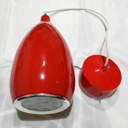 Lámpara colgante LED Pera 12W Roja