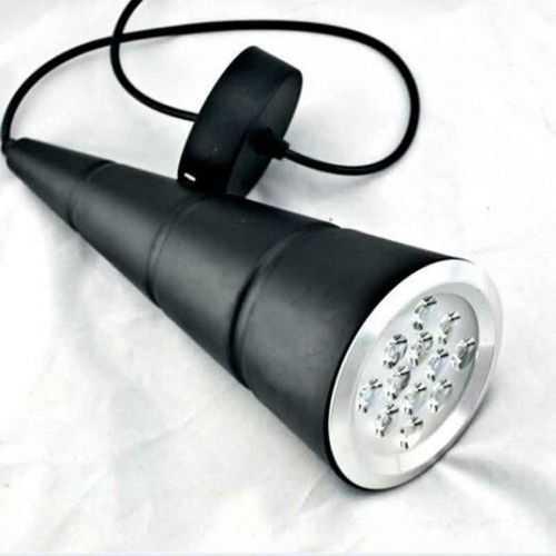 Lámpara colgante LED Cono 12W Negra