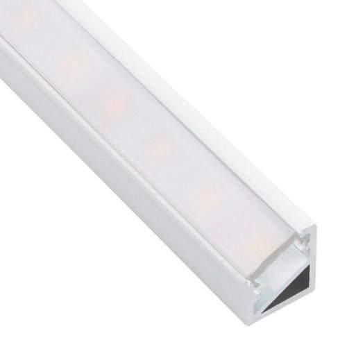 Perfil Blanco Aluminio Esquinero 1 Metro Tira LED