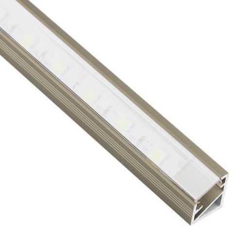 Perfil Cava-Niquel Aluminio Esquinero 2 Metros Tira LED