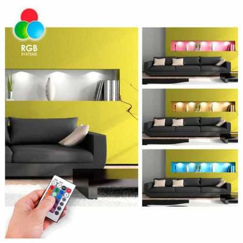 Aplique Led RGB 2W Cuadrado Aluminio para Muebles