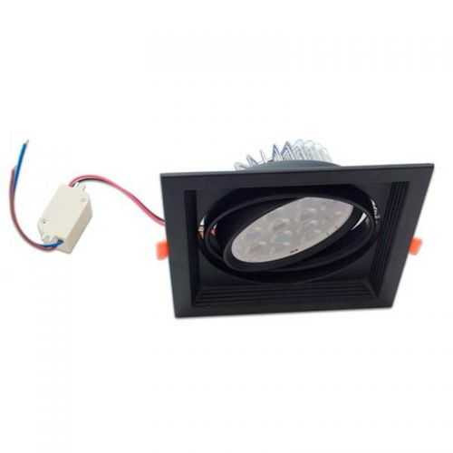 Empotrable Basculante Cuadrado Negro AR111