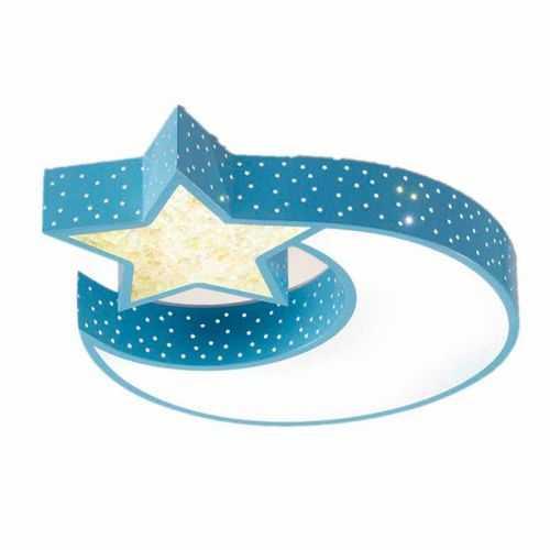 Plafón LED 32W Infantil Luna - Estrella Azul