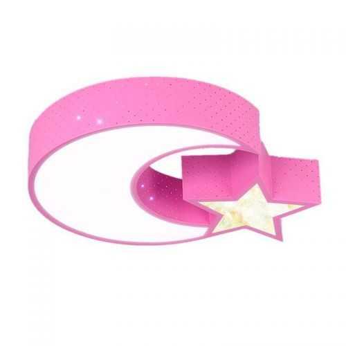 Plafón LED 32W Infantil Luna - Estrella Rosa
