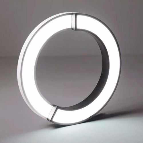Plafón LED con diseño Circulos Blanco-Negro 36W