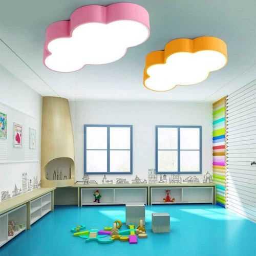 Plafón LED 24W Infantil Nube Rosa