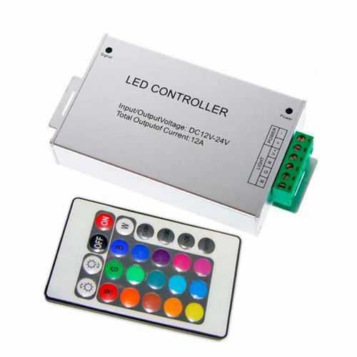 Controlador RGB infrarrojos Aluminio 24 teclas 144W