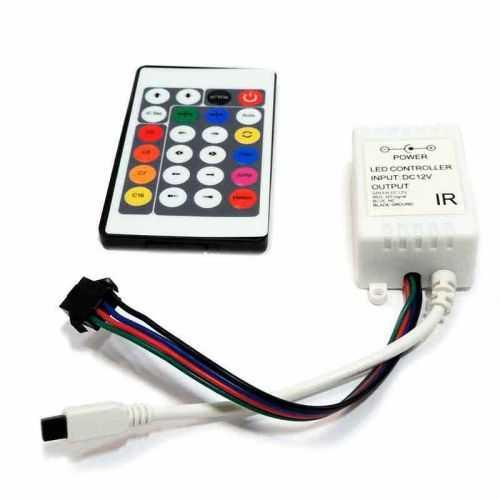 Controlador RGB infrarrojos 24 teclas 72W Digital 6803IC