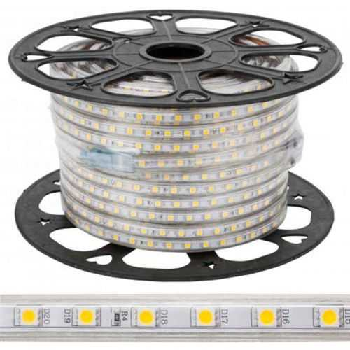 Rollo 50 metros Tira LED SMD 5050 11 W/m 230V IP67