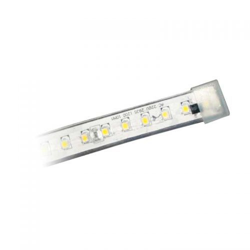 Tapón final Tira LED SMD 2835 17W/m 230V Directa Sin Rectificador IP67
