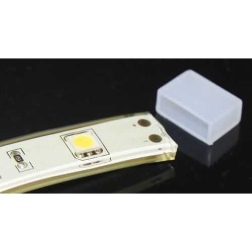 Tapón final Tira LED SMD 2835 17W/m 230V Directa Sin Rectificador IP67