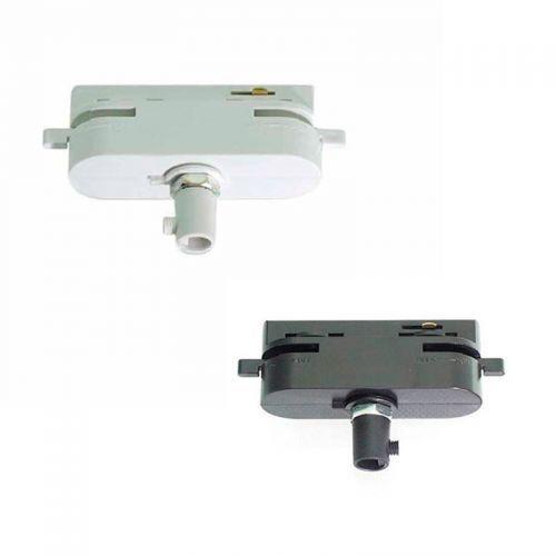 Adaptador luminarias para Carril monofásico blanco o negro