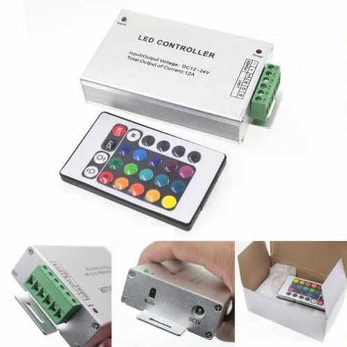 Controlador RGB infrarrojos Aluminio 24 teclas 288W