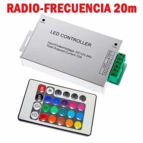 Controlador RGB Radio-Frecuencia Aluminio 24 teclas 144W
