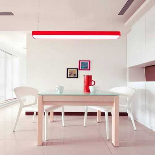 Plafón LED superficie Rectangular 48W Rojo
