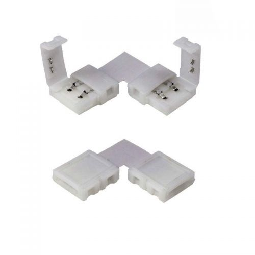 Conector Curva plana 90º Tiras LED 8mm