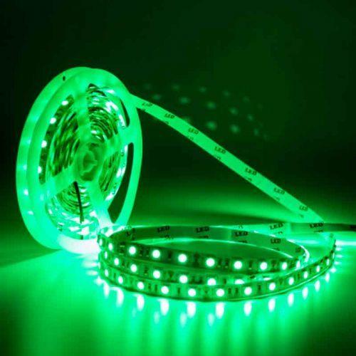 Tira LED Verde 14,4 W/m 12V IP20 5 metros