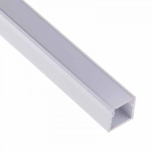 Perfil Blanco Aluminio Hondo Superficie 2 metros Tira LED