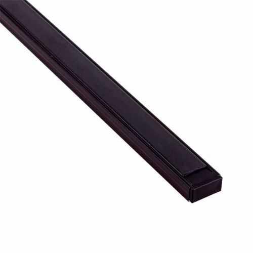 Perfil Negro Ahumado Aluminio superficie 2 metros Tira LED