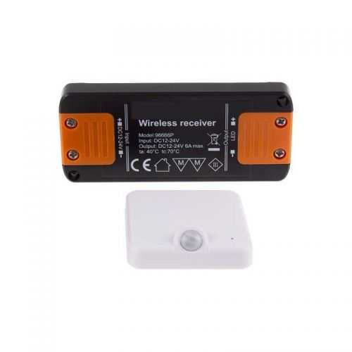 Sensor de Movimiento superficie 12V-24V Inalámbrico RF