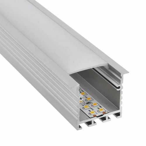Perfil Aluminio Empotrar Techo-Pared 2 metros Tira LED